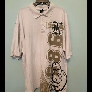 kani gold Shirts - Men's 3X Kani Gold cream/navy/tan polo used